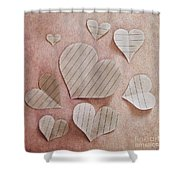 Papier D'amour Shower Curtain