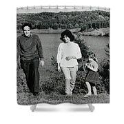 Pappa Hans Mama Chris Colette 1960 Dollerup Hills Denmark Shower Curtain