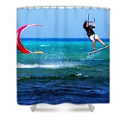 Para Surfing In Cozumel Mexico Shower Curtain