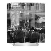 Parade Crowd Reflected Shower Curtain