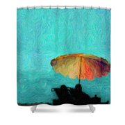 Paradise By The Sea Shower Curtain