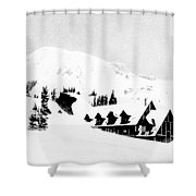 Paradise Inn Buried In Snow, 1917 Shower Curtain by Science Source