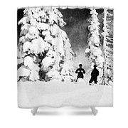 Paradise Inn, Mt. Ranier, 1917 Shower Curtain