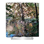 Paradise Springs Trees Shower Curtain
