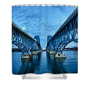 Parallel 3366 Shower Curtain