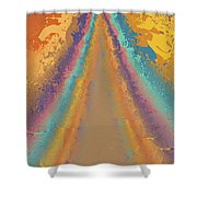 Parameter Space Mountain Shower Curtain