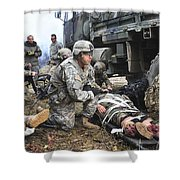 Pararescuemen Prepare To Transport Shower Curtain