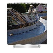 Parc Guell Spain Shower Curtain