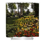 Parc Les Invalides In Spring Shower Curtain