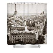 Paris: Aerial View, 1900 Shower Curtain