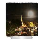Paris At Night Shower Curtain