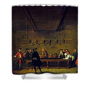 Paris: Billiards, 1725 Shower Curtain