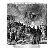 Paris: Burning Of Heretics Shower Curtain