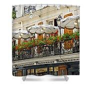 Paris Cafe Shower Curtain by Elena Elisseeva