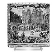 Paris: Catholic Procession Shower Curtain