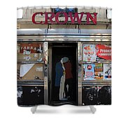 Paris Diner Shower Curtain
