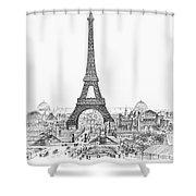 Paris Exhibition, 1889 Shower Curtain
