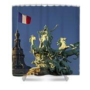 Paris Horse Statue Shower Curtain