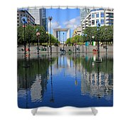 Paris La Defense 3 Shower Curtain
