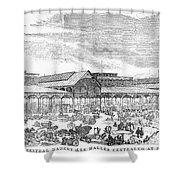 Paris: Les Halles, 1858 Shower Curtain