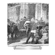 Paris: Les Halles, 1870 Shower Curtain