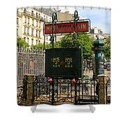 Paris Metro 3 Shower Curtain