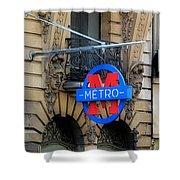 Paris Metro 5 Shower Curtain