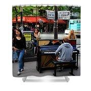 Paris Musicians 2 Shower Curtain