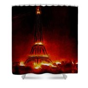 Paris Nights Shower Curtain