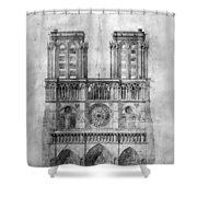 Paris: Notre Dame, 1848 Shower Curtain