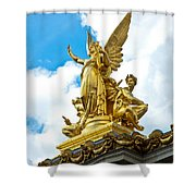 Paris Opera House Vi  Exterior Facade Shower Curtain