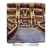 Paris Opera House Vii  Grand Stairway Shower Curtain