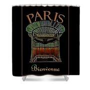 Paris Poster Art 1 Shower Curtain