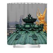 Paris Rooftops 1 Shower Curtain