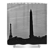 Paris Skyline Shower Curtain
