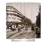 Paris: Street Scene, 1890 Shower Curtain