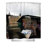 Paris Street Vendor 2 Shower Curtain