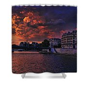 Paris Sundown Shower Curtain