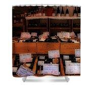 Paris Wine Shop Shower Curtain