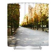 Parisian Park Walkway Shower Curtain
