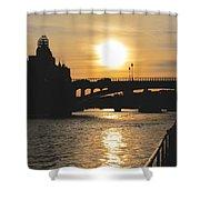 Parisian Sunset Shower Curtain