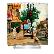Park Avenue And Bernard Montreal City Scene Shower Curtain