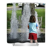 Childhood Waterpark Dreams Shower Curtain