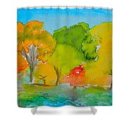 Park Impression Shower Curtain