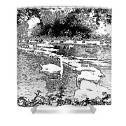 Park Sketch Shower Curtain