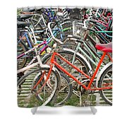 Parking Bicycles In Mako Shower Curtain
