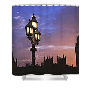 Parliament And Light At Sunset Shower Curtain