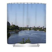 Parliament And Ottawa River  Shower Curtain