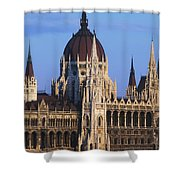 Parliament Buildings On River Danube Shower Curtain