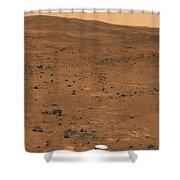 Partial Seminole Panorama Of Mars Shower Curtain
